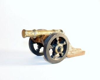 Carved Wooden Civil War Era Cannon