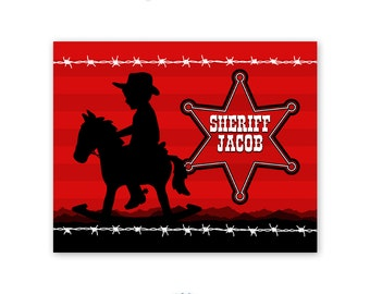 Wild West Theme Cowboy Art Print