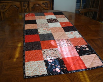 """Beautiful Table Runner using Moda's New Line """"Table for Two"""" by Sandy Gervais"""