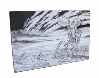 Large Grateful Dead Till The Morning Comes Black & White Canvas Print