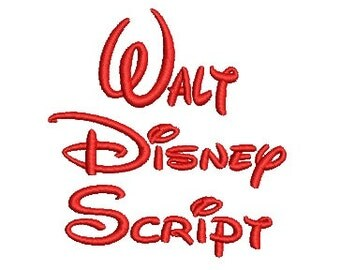 Walt Disney Embroidery Font, Upper and Lower Case Letters and Numbers