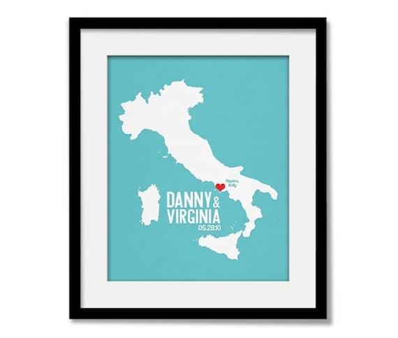 Italy Wedding GiftPersonalized International EuropeCustom ...