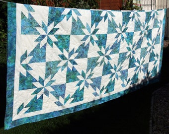 Hunters Star Batik Patchwork Quilt by PingWynny Made to Order