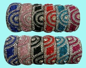 Bollywood Bangle Bridal Bracelet Kada Suhag indian Asian wedding Jewellery stone