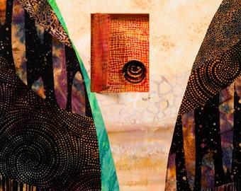 Original wall art cotton batik three dimensional