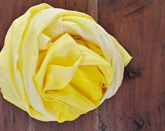 30 inch Waldorf hand dyed yellow play silk