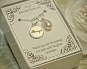 Flower Girl Necklace - FGYT - Flower Girl Pearl Necklace -- Flower Girl Gift -- Pearl Necklace -- Authentic Freshwater Pearl Pendant