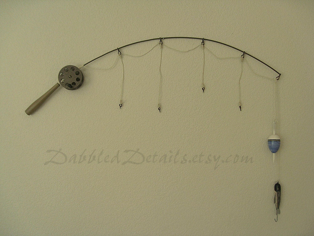 Fishing pole picture frame no frames 3 4 5 or 6 strings for Fishing picture frame