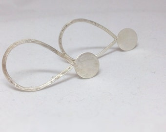Sterling Silver Minimal Teardrop Geometric Earrings