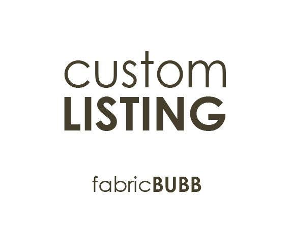 Custom Listing for Mindy