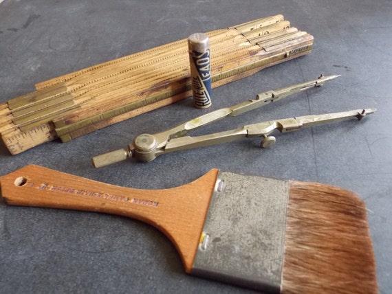 Antique Artist Tools of Desk Artist Tools