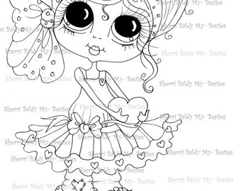 INSTANT DOWNLOAD Digital Digi Stamps Big Eye Big Head Dolls Digi  My - Besties  IMG157 2 By Sherri Baldy