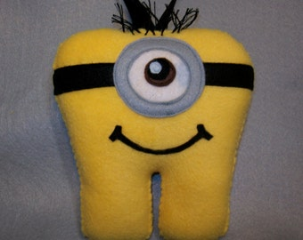 """7"""" Minion Inspired Tooth Fairy Pillow - Ready to Ship!"""
