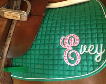 Personalized Appliqué Saddle Pad