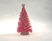 "1/4"" Scale Red Christmas Tree"