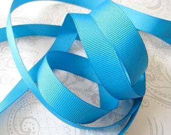 Turquoise Grosgrain Ribbon 5/8in -- 3 yards -- Cerulean -- 16mm