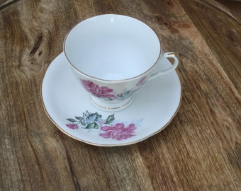 Vintage Floral China Tea Cup and Saucer