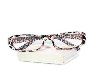 reading glasses pink camouflage handpainted eye glasses