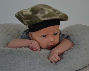 Kids Hat Camouflage Kids French Beret Baby French Beret Toddler French Beret Newborn Hat