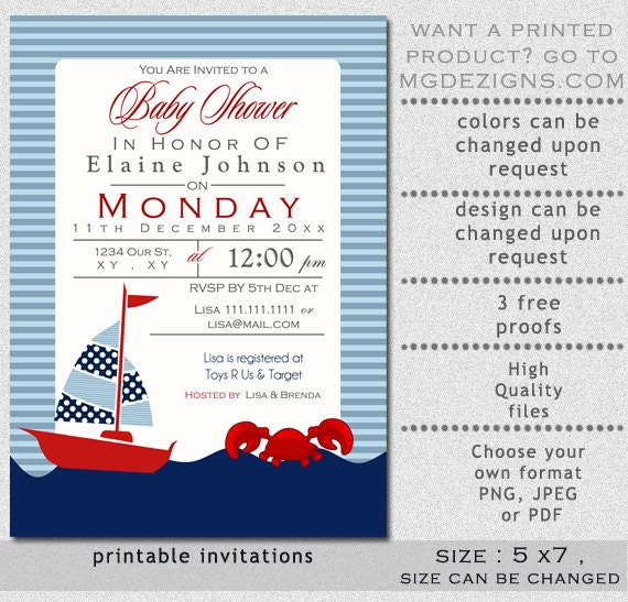 nautical baby shower invitations templates - 28 images - nautical ...