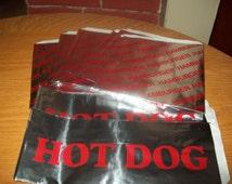 Retro Foil Mix Hamburger Bag Hot Dog Bag Holders Picnic Cookout Birthdays  Set of 30