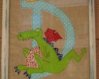Alphabet Framed Art - Letter D