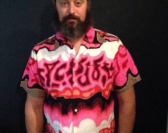 surfs up NEON Hawaiian shirt