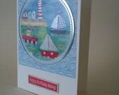 Ahoy Matey - Happy Birthday Matey!  Handmade Card