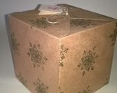 5 Green Snowflakes Gift Boxes , Made to Order, Christmas, Thank You gift Box, UK FREE SHIPPING