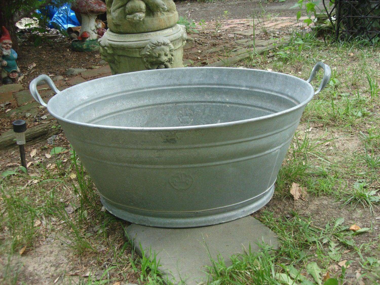 sale antique early 1900s german zinc bathtub tin by funknjunkinc. Black Bedroom Furniture Sets. Home Design Ideas