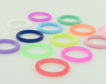 50 O-Rings - Colorful Silicone Dummy / Pacifier Clips Adapters (Choose Color(s)) for Nuk MAM Button Style Pacifiers