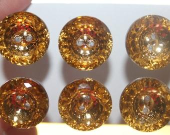 Sparkling Champagne Pale Gold Round Push Pins/ Thumb Tacks Set of 6