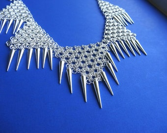 Spike necklace, chainmaille necklace