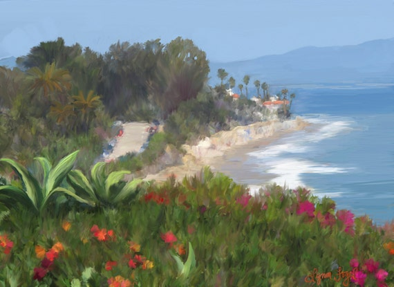 Butterfly Beach Painting in Giclee Prints. Gallery Wrap Canvas and more.