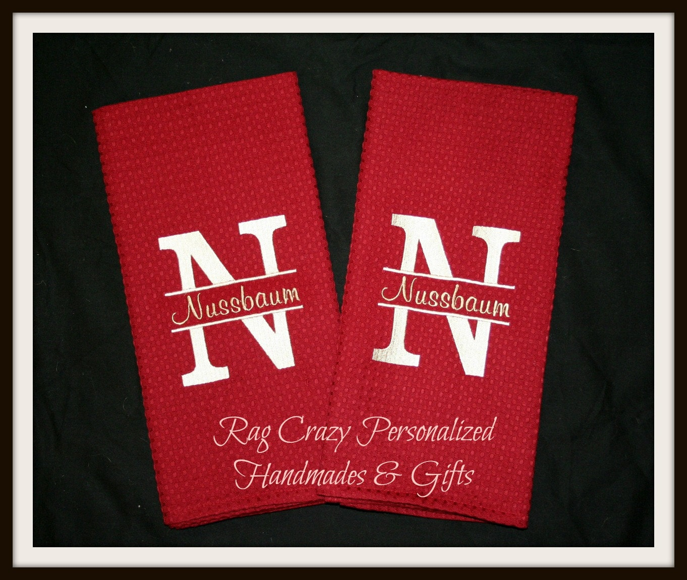Embroidered Towels Custom: Embroidered Kitchen Towels Kitchen Towel Set Personalized