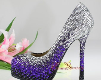 Embelished Crystal Luxury Multi Color Blend  Pumps