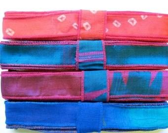 12 Yards of Mixed Silk Ribbon, A41