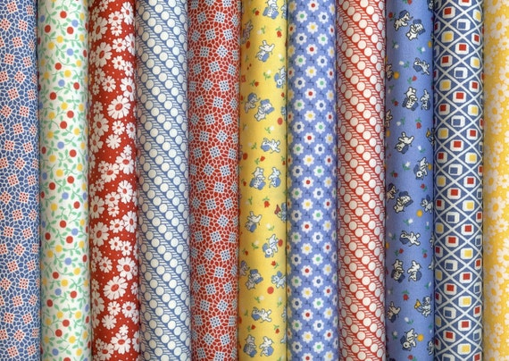 fabric 30s quilting reproduction moda playtime quarters fat cotton fabrics closet quilts chloe percent baby