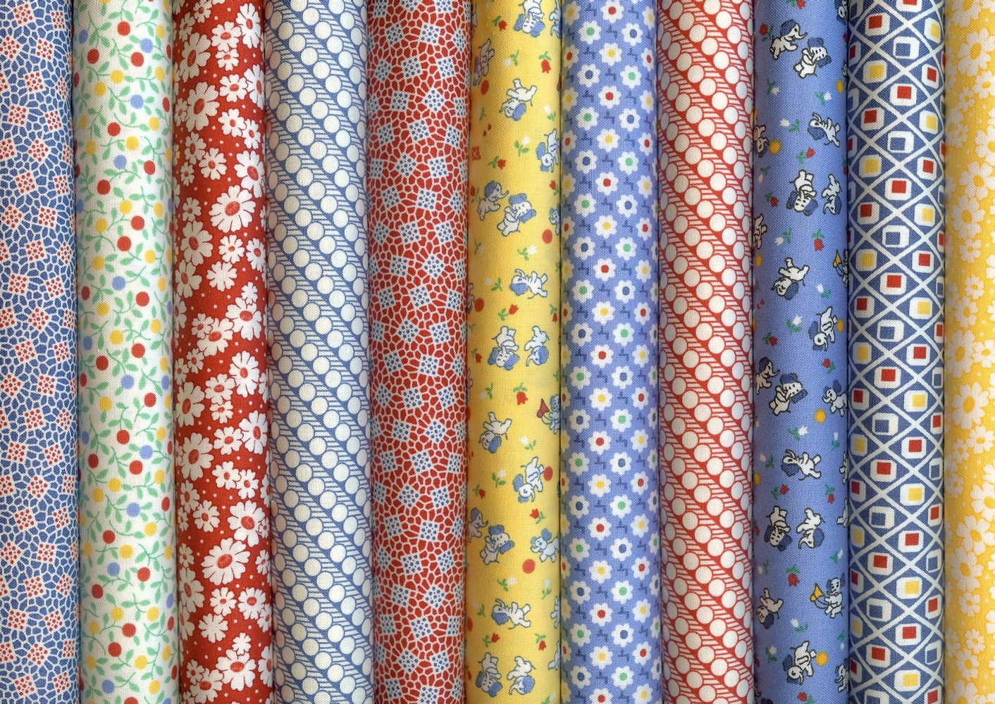 30s playtime a moda 30s reproduction fabric 11 fat quarters for Quilting material