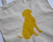 Big Yellow Dog Tote Bag