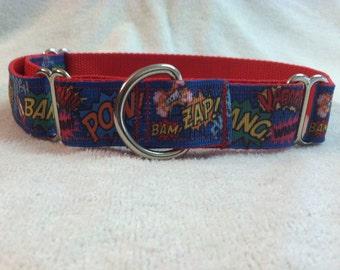 Superhero Boom Pow Martingale Collar