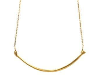 Transience Collection - 18ct Gold Vermeil Radius Necklace