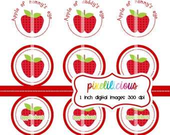 Bottle Cap Image Sheet - Instant Download - Applicious -  1 Inch Digital Collage - Buy 2 Get 1 Free