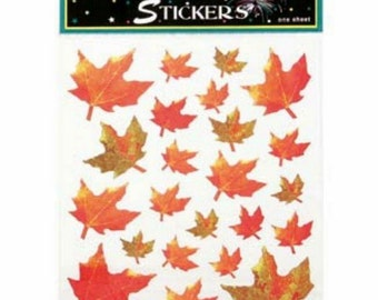 32 Fall Leave Stickers (2 Sheets)