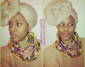 Large ANKARA NECK ROPES (1 Necklace) (Video link below)