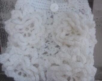 Crochet flower purse handbag