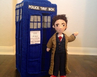 Tenth Doctor Who doll and TARDIS Amigurumi Crochet Patterns