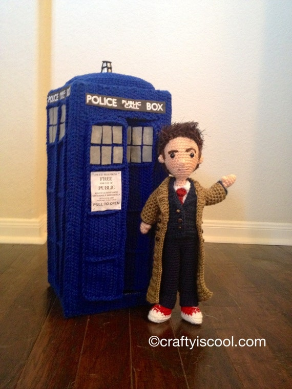 Woodstock Amigurumi Free Pattern : Tenth Doctor Who doll and TARDIS Amigurumi Crochet Patterns
