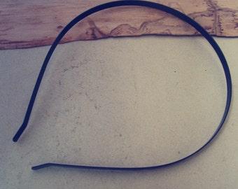 30 Pcs 4mm black  color metal Headbands