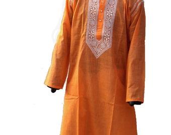 Gypsy clothing for man tunic shirt in Indian salwar kameez kurta pattern ethnic clothing gift ideas for him cotton bohemian wedding shirt
